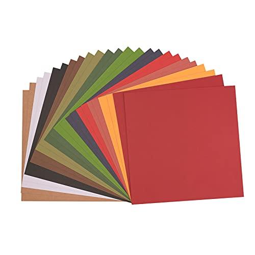 Vaessen Creative Florence Cardstock Papier Multipack Weihnachten, 24 Bögen aus 216 g/m² Strukturiertem Papier, 30,5 x 30,5 cm, Kraftpapier für Scrapbooking, Karten Basteln und Stanzen