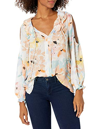 CATHERINE CATHERINE MALANDRINO Women's Sayer Blouse-Printed, Watercolor Floral, L