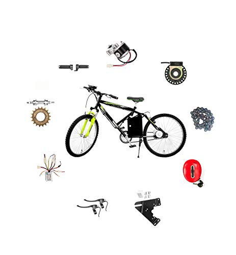 Geekay 24 Volt 250 Watt Electric Pedal Assist Electric Bicycle Conversion Motor Kit for Cycle