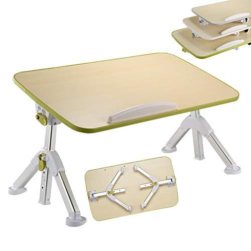 QFF@ Aluminium Beugel Opvouwbare Laptoptafel/Staande Werktafel/Slaapbank Breakfast Tray/Kleine Draagbare Tafel Voor Bed, Verstelbare Hoek/Verstelbare Hoogte, Dit Is Een Goede Keuze Voor Een Thuiskan