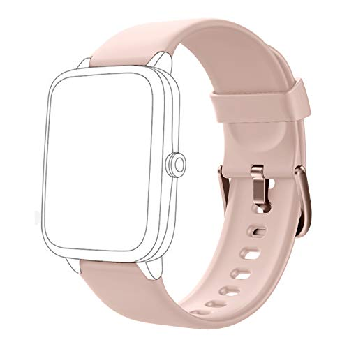 HAFURY Smartwatch Ersatz Armbänder Ersatzarmbänder für Smart Watch ID205 ID205L, Verstellbare Ersatzbänder Fitness Armbanduhr für Frauen Männer Kinder-Pink
