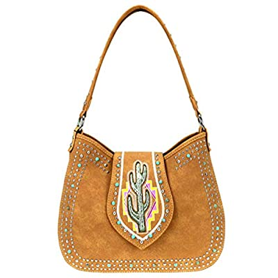 Montana West Hobo Bags Western Cactus Concealed Carry Purses MW860G-918 (Brown)