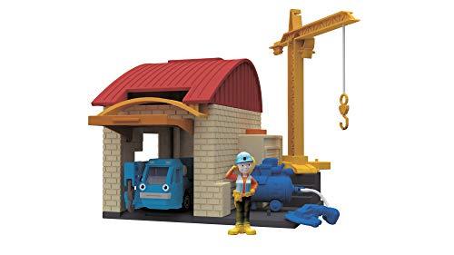 Dickie Toys 203133010 Bob der Baumeister Garagen Spielset Spielgarage mit vielen Funktionen, dem Kran Heppo, 10 x 12 cm