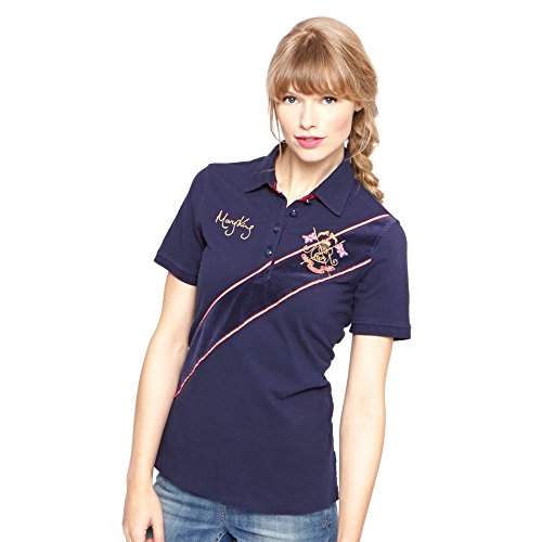 Joules Tom Maryking Damen Polo Shirt - Pink/Navy - Sise 16