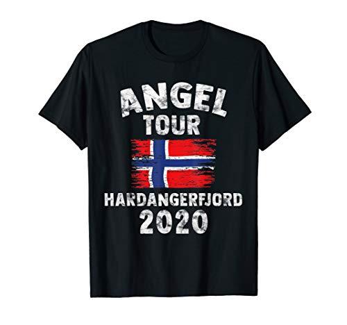 Hardangerfjord 2020 - Angel Tour nach Norwegen mit Flagge T-Shirt