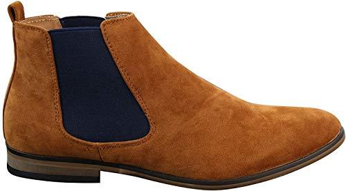 Bottes Aspect daim Doublure cuir À enfiler Design Italien Cinq couleurs, homme - Marron - camel, 40 2/3 EU