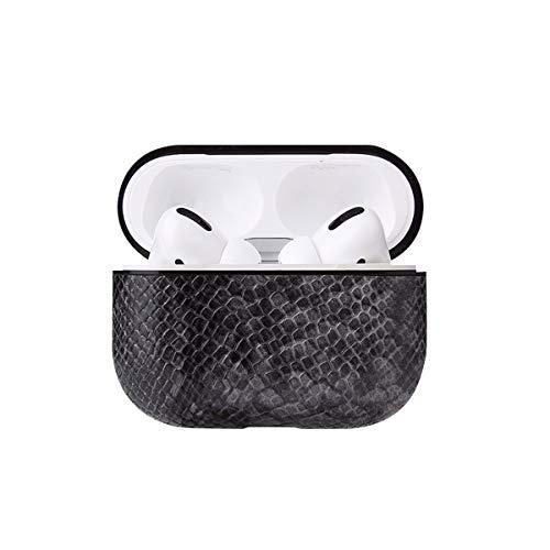 13peas leren hoesje, compatibel met AirPods Pro hoesje beschermhoes case met sleutelhanger leer vintage tas zachte schokbestendige hoes voor AirPods Pro, 6, dark grey