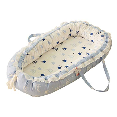 DorkasDE Babynest Kuschelnest Faltbett tragbar Babybett Reisebett