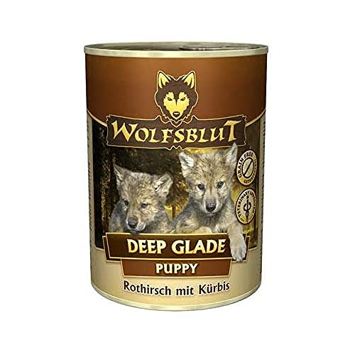 Wolfsblut - Deep Glade Puppy - 6 x 395 g - Rothirsch und Wasserbüffel - Nassfutter - Hundefutter - Getreidefrei