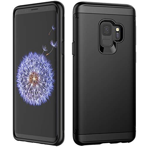 JETech Custodia Compatibile Samsung Galaxy S9, Doppio Strato Protettivo Cover con Assorbimento degli Urti, Nero