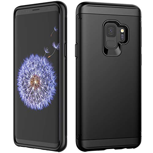 JETech Case for Samsung Galaxy S9, Dual Layer Protective Cover with Shock-Absorption, Black