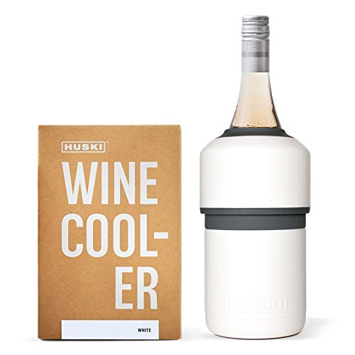 Huski Wine Cooler | Premium Iceless Wine Chiller | Keeps Wine Cold up to 6 Hours | Award Winning Design | New Wine Accessory | Fits Some Champagne Bottles | Perfect Gift for Wine Lovers (Matte White)