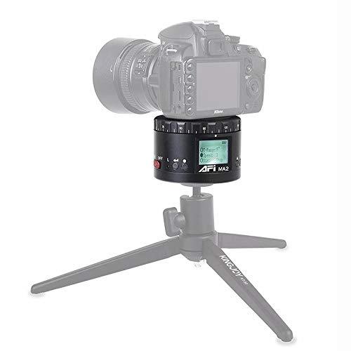 JUNXI Camera MA2 LCD-camerahouder met uitgestelde rotatie 360 graden voor spiegelreflex- en digitale camera's met timelapse-fotografie (zwart) Duurzaam en mooi, zwart