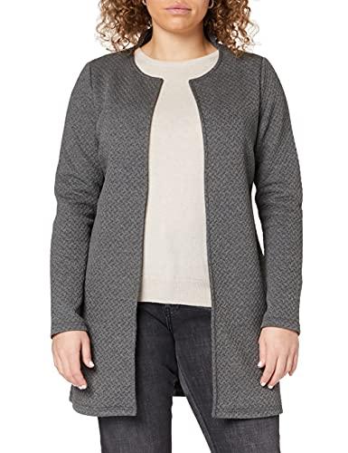 Vila Clothes Vinaja New Long Jacket-Noos Chaqueta Punto, Gris (Medium Grey Melange), 36 (Talla del Fabricante: Small) para Mujer