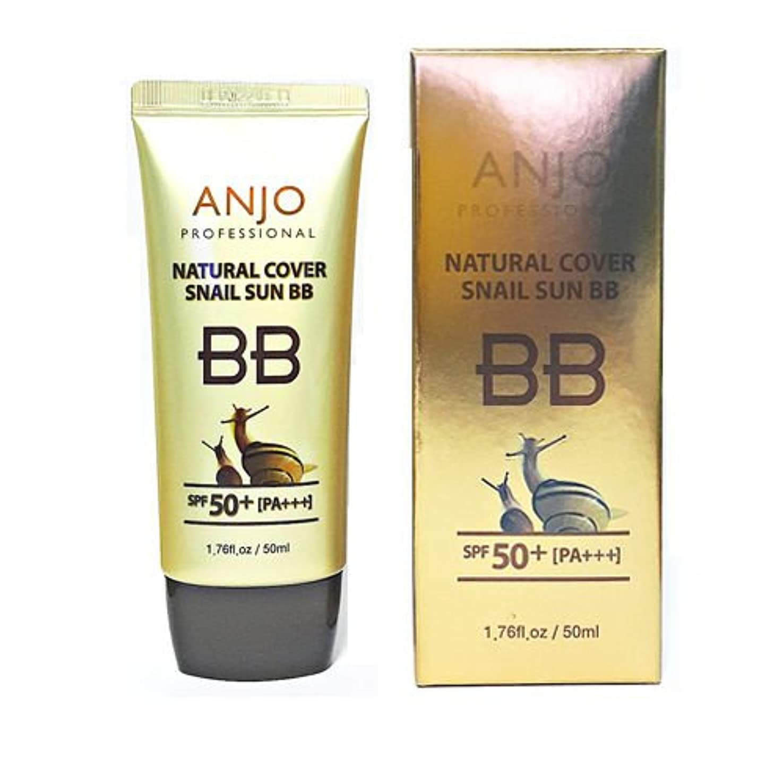 明日降伏レジアンジュ[韓国コスメAnjo]Professional Natural Cover Sun BB Cream プロフェッショナルナチュラルカバー日焼け止めBBクリーム50ml SPF50+ PA+++UVホワイトニングリンクルケア[並行輸入品]
