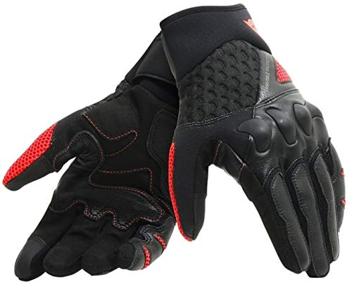 Dainese X-Moto Unisex Gloves, Black/Fluo-Red, XL