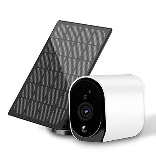 Zealhot Cámara de vigilancia Exterior con Panel Solar, 1080P,...