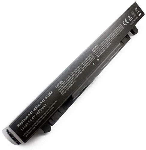 A41-X550A Batería para ASUS X550CA X550LB A450 A550 F450 F550 F550C F550L F552 F552C F552CL K550 K550C X450 X552 X552EA FX50JK F550C R510CA X550V Ordenador [6 Celdas, 4400mAh 14.4V ]-1 año Garantía