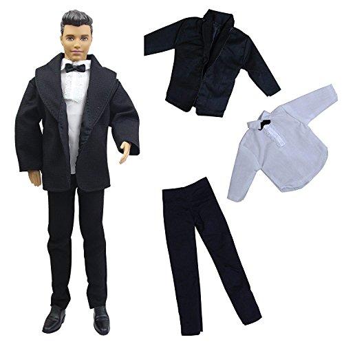 ZITA ELEMENT Herren Hochzeit Anzug Set für 11,5 inch doll Boy Friend Gril doll Mann Kleidung Anzugjacke Outfit Hemd Hose Puppenkleidung Hochzeit Bräutigam