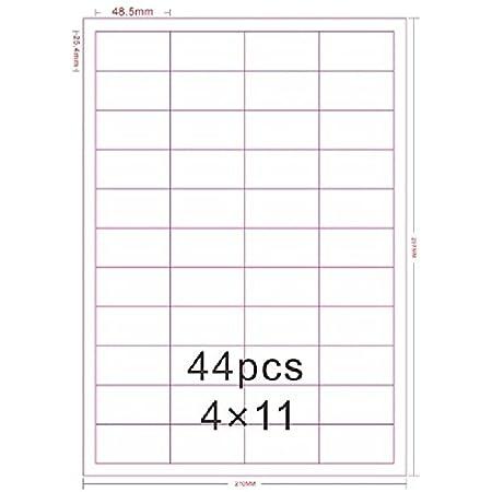 Universal Etiketten 48,5x25,4 mm DIN A4 Laser Inkjet 100 Blatt 4000 St