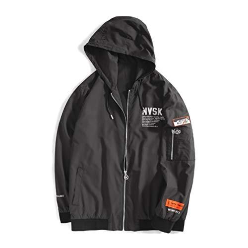 QJY ritssluiting vooraan regenjas, regenjas met capuchon verborgen casual jas (regelmatige grootte en groot en hoog)