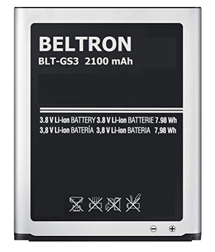 New BELTRON 2100 mAh Replacement Battery for Samsung Galaxy S3 SIII (I747 I535 L710 T999) EB-L1G6LLA EB-L1G6LLU EB-L1G6LLZ