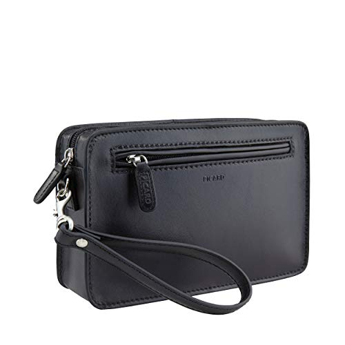 Picard Wrist Bag S with Zipper Toscana (Reise) Cuero Small 14 x 23 x 5,5 cm (H/B/T) Hombre Portafolios (8966)