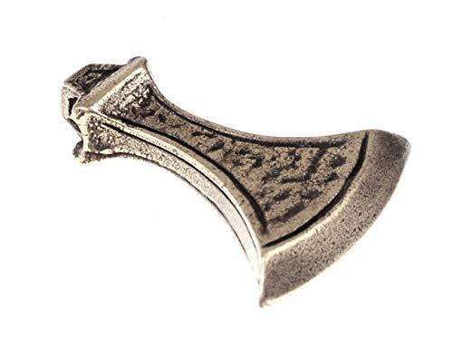 Axt-Amulett in Form einer typischen Wikingeraxt inspiriert von historischen Funden Farbe silberfarben
