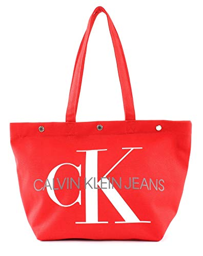Calvin Klein Jeans Damen Shopper E/W BOTTOM TOTE MONOGRAM rotOne Size