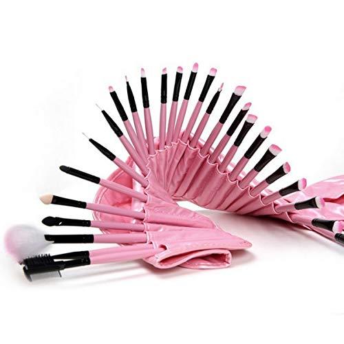 Lot de 32 pinceaux de maquillage professionnels avec pochette en cuir synthétique