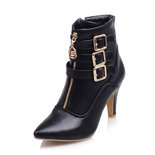 MEOTINA Women Ankle Boots High Heels Buckle...