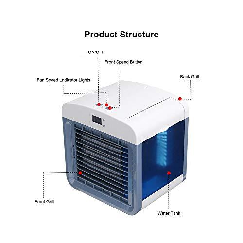 guomao Mini Aire Acondicionado portátil Ventilador de enfriamiento de Aire Acondicionador de Aire de Escritorio Humidificador Purificador