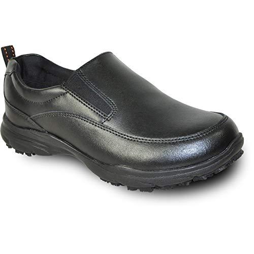 VANGELO Professional Slip Resistant Women's Slip On Work Shoe for Food Service Health Care Nurse AVA-3 Black Women's Size 7W