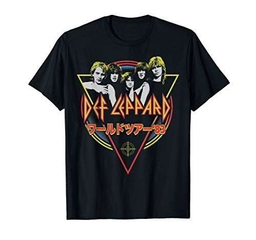 Def Leppard Japanese Pyromania T-shirt, 4 Colours for Menor Women, S to 3XL