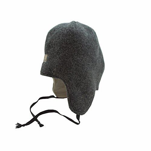 PICKAPOOH Mütze Jack für Kinder und Erwachsene aus Wollwalk kbT oder Wollfleece kbT, Grau (Fleece) Gr. 62