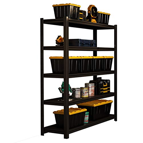 shelf RENJUN- Heavy Duty Steel Frame Carbon Steel Material Height Adjustable Removable Not Easily Deformed 180x90x45cm Black