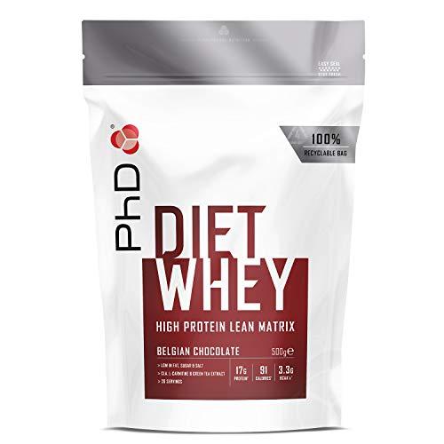 PhD Nutrition Diet Whey Protein Powder, Belgian Chocolate,500 g
