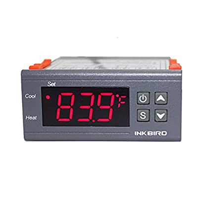 Inkbird 110V All Purpose Dual Stage Digital Temperature Controller Centigrade and Fahrenheit Display Thermostat