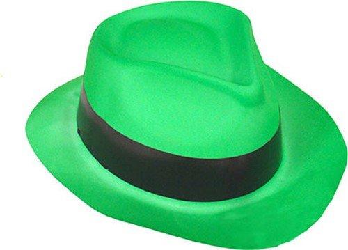 Chapeau gangster vert fluo adulte - Taille Unique