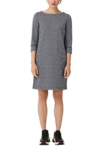 s.Oliver RED Label Damen Kleid im Hahnentritt-Design Navy Glen Check 36