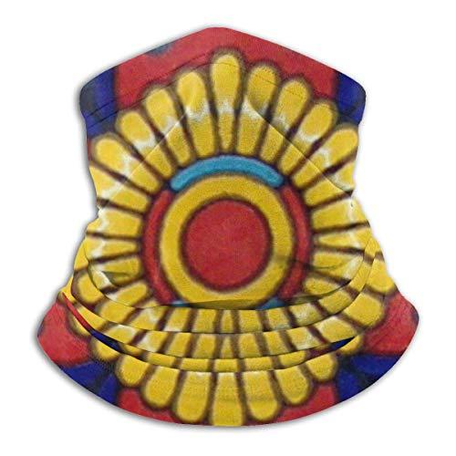 AEMAPE Azulejos de cerámica de Talavera mexicana Unisex Fleece a prueba de viento Calentador de cuello Calentador de rostro Tubo de cuello Bufanda de cuello Polainas de cuello Bandana Negro-44