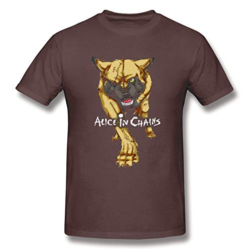 Alice In Chains20 Man Short Sleeve T-Shirt Rock Soft T Shirts Coffee 5XL