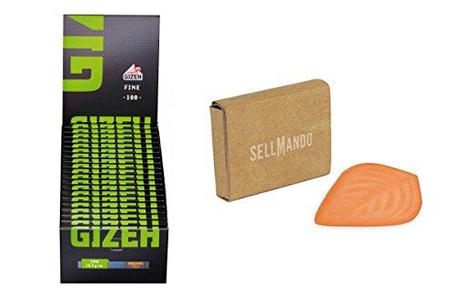 Gizeh 20x Black Fine Magnet Zigarettenpapier + Tabak Feuchthalter