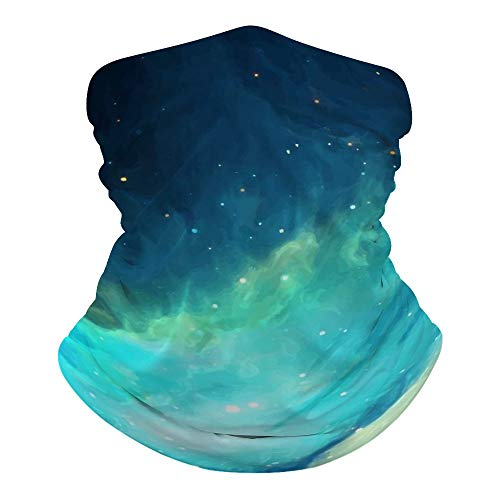 Tamengi Starry Galaxy Magic Headbands Outdoor Headwear Seamless Bandana Sports Scarf Dust & UV Protection Face Cover Mouth Mask for Yoga Hiking Riding Motorcycling