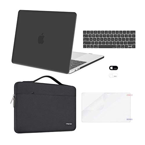 MOSISO Compatible with MacBook Pro 13 inch Case 2016-2020 Release A2338 M1 A2289 A2251 A2159 A1989 A1706 A1708, Plastic Hard Shell Case&Bag&Keyboard Skin&Webcam Cover&Screen Protector, Space Gray