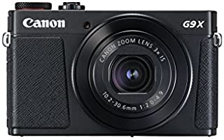 Canon PowerShot G9 X Mark II - Cámara compacta de 20.9 MP (Pantalla táctil de 3 vídeo Full HD CMOS Intelligent IS Digic 7 Bluetooth) Negro