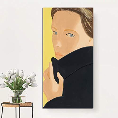 KWzEQ Kunstmalerei nordisches Jungenplakat auf Leinwand Wohnzimmerdekoration Moderne Wandkunst Ölgemälde,Rahmenlose Malerei,40x80cm