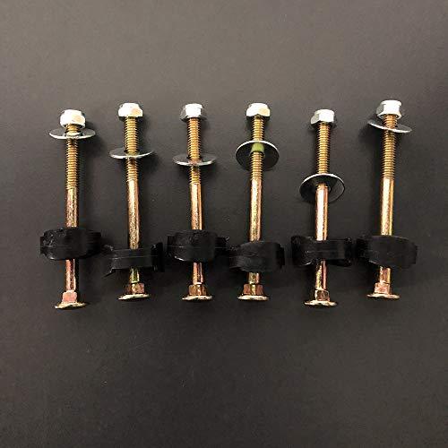 XIE Trampolinzubehör,Trampolinschraube,Schrauben zur Befestigung des Trampolins,6er Pack, geeignet für großes Trampolin und kleines Trampolin (Lange Schrauben-6er Packs)