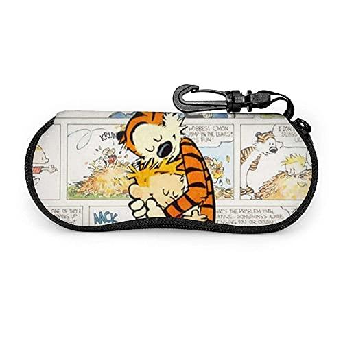 AOOEDM Hope Tree Fashion Estuche para anteojos personalizado Calvin y Hobbes con mosquetón, Estuche blando para gafas de sol de neopreno portátil ultraligero con cremallera