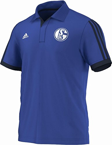 adidas Herren Poloshirt FC Schalke 04 Polo, Cobalt/Collegiate Navy, XS